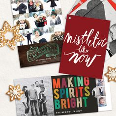 You'll be humming Christmas carols and picking out photos when you see our new Christmas card ideas!