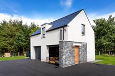 New Build In County Armagh New Modern House, Modern House Plans, Modern Houses, Garage House, Console Table, House Designs Ireland, Plane 2, Minimal House Design, House Outside Design