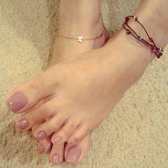 Pretty Toe Nails, Cute Toe Nails, Pretty Toes, Nice Toes, Toe Nail Color, French Acrylic Nails, Painted Toes, Feet Nails, Toenails