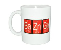Nerdy mug periodic table of elements funny white ceramic bazinga mug periodic table of elements by neuronsnotincluded urtaz Image collections