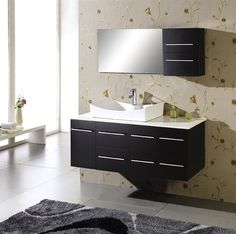 """How about the Virtu USA MS-430 - 55"""" Ceanna Single Bathroom Vanity? Beautiful? Check. Sleek? Check. Manmade? Check. This universal design will fit seamlessly into most bathrooms, giving it some flare and pizazz."""