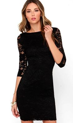 lace sleeves #lbd