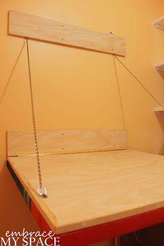 Hometalk :: Canvas art/laundry folding table. great idea