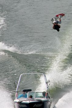 Getting air - wakeboarding