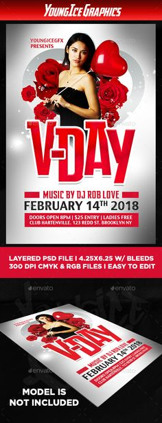 #Vday #Flyer Template - Clubs & Parties #Events