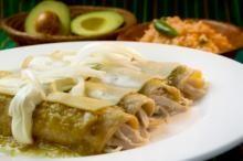 Hatch Chile Chicken Enchilada