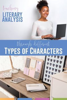 Teaching character analysis and teaching types of characters is an important part of secondary language arts lessons concerning literary analysis activities. Add these free literary analysis lessons to secondary ELA classes. Teaching flat, dynamic, stock, static, and round characters and teaching character arc is part of English language arts curriculum. Add pop culture and connections from students' lives to engage reluctant readers and make literature lesson plans pop in high school ELA class.