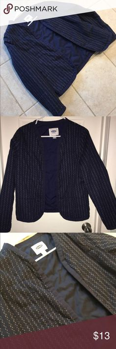 old navy jacket NWOT. Tags removed to try and wear but never worn after bought. NEW condition.  it's not a heavy warm jacket . between a heavy cardigan and a bomber jacket also without zippers and pockets Old Navy Jackets & Coats Blazers