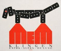 11_klinger_Advertising_Design_for_MEM_s_Audio_Tape._Relief_print_1922_davidson_galleris_50_watts