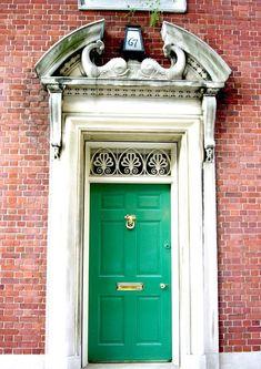 emerald Green Front Door.