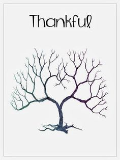 Free thumbprint tree template. I love that they are using fall ...