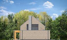 Projekt domu Rumba 130,27 m2 - koszt budowy 192 tys. zł - EXTRADOM Facade House, Samba, Home Fashion, Cabin, Mansions, House Styles, Modern, Home Decor, Trendy Tree