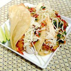 Mahi Mahi Fish Taco's-love them with mango salsa!