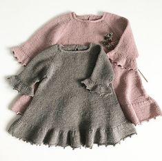 Foxglove Dress - Thimble dress pattern by Knitting for Sif - ДЕВОЧКАМ. - Foxglove Dress – Thimble dress pattern by Knitting for Sif – ДЕВОЧКАМ # - Knit Baby Dress, Knitted Baby Clothes, Baby Gown, Little Pink Dress, Little Girl Dresses, Knitting For Kids, Baby Knitting Patterns, Robe Diy, Pull Bebe