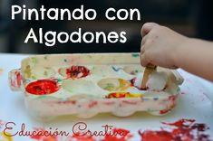 Pintando con Algodones - Educación Creativa