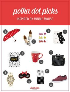 If there's one style icon we have in common with our little ladies — it's Minnie Mouse. From her yellow pumps to her perfect polka dots, this lady in red is always a classic. We've rounded up our favorite polka dot products to help moms channel their inner Minnie. From stylish flats to a convertible diaper bag, you're sure to fall in love with an item (or three). Click to see these pretty Disney products.