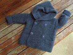 Knitted warm woollen child sweater. Size 1-2 years.