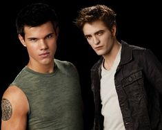 I liked Edward and Jacob in the books. But when I found out Taylor Lautner was Jacob Black - BOOM!! Team Jacob [=