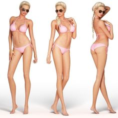 3d model e woman character - Blonde Woman... by PeartVision