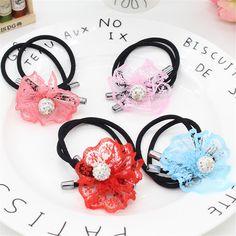 Vigueur 1PCS Hair bows for Girls Elastic Bands Hair Clips Headwear Accessories for Children Solid Color Fashion Headdress