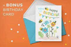 Happy bees baby design kit by Insalata Illustrata on @creativemarket
