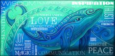 Whale Totem Wordart Art Print by Reina Cottier. All prints are professionally printed, packaged, and shipped within 3 - 4 business days. Choose from multiple sizes and hundreds of frame and mat options.