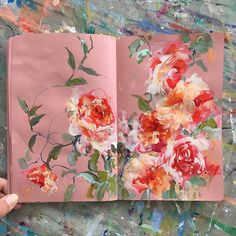 today's sketchbook . . . #painting #sketchbook #carveouttimeforart #abstractflowers #dsfloral #dscolor #iloveflowers #inspiredbynature #sonalmix #expressionism #pink #markmaking #bohostyle #contemporaryart #floral #flowermagic #flowerstagram #pinkandred #roses #arrangement #abmlifeiscolorful #pursuepretty #dailypainting #doitfortheprocess