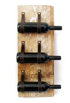 LEATHER AND METAL WALL WINE RACK - Google Search