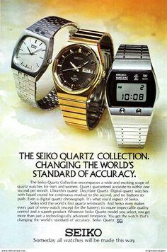 Original-Werbung/ Anzeige (USA) 1976 - SEIKO QUARTZ UHREN / WATCHES -  Ca. 160 X 230 Mm - Werbung