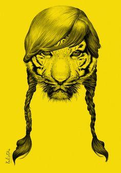 Tiger illustration by Valístika Studio. Hehe
