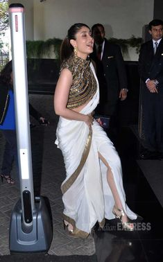 Kareena Kapoor revealed a bit too much leg, given the formal occasion. #Style #Bollywood #Fashion #Beauty