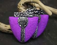 Modern Earrings Polymer Clay Earrings Modern by Lelandjewelry