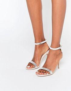 4573ebc7eb8 Image 1 of Carvela Giselle Nude Embellished Heeled Sandals New Shoes