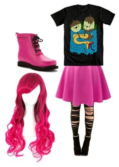 """Princess bubblegum cosplay"" by batcat20 on Polyvore featuring LE3NO and Ilse Jacobsen Hornbaek"