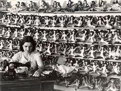 Louise Rosskam (born Louise Rosenbaum) (March 27 1910 - April 1 2003): Making dolls in the Manual Industries Division of the Puerto Rico Industrial Development Company, near Isla Verde, Puerto Rico, May 1947
