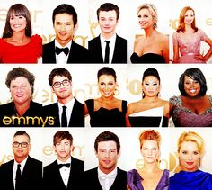 Glee cast at the Emmys