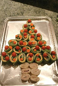 Christmas Tree Roll-ups.  Cute & easy snack or appetizer.