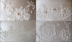 Lace piping & Brush embroidery