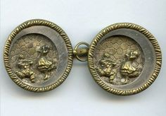 Victorian pictorial belt buckle.