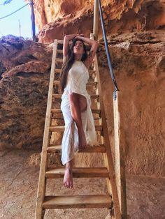 Vestido largo de crochet blanco – Mi cóctel de moda – Ibiza fashion blogger & influencer