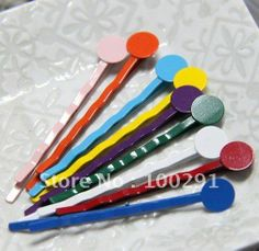 multicolor 45mm with 8mm pad hair bobby pins, hair clips Jewelry Findings Accessories Nickel Free Lead Free!! $505.26