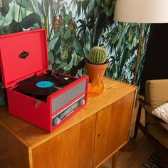 Retro Style Auna Belle Epoque Record Player With CD Playback And Cassette Deck