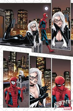 Felicia Hardy Gets Her Claws into Spider-Man in 'Black Cat Annual' Spiderman Black Cat, Black Cat Marvel, Spiderman Movie, Hq Marvel, Marvel Comics Art, Marvel Films, Marvel Funny, Marvel Heroes, Spider Girl