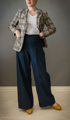 """American Duchess: Review: Wearing History """"Smooth Sailing"""" Trousers - I might actually wear something like this."""