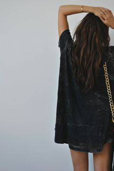 Distressed black oversized shirt - have to find this!