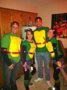 Girl ninja turtle power halloween costume pinterest turtle our homemade ninja turtles costumes solutioingenieria Image collections