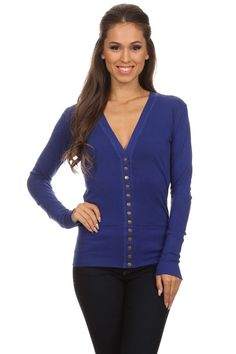 13 Snap Button Royal Cardigan