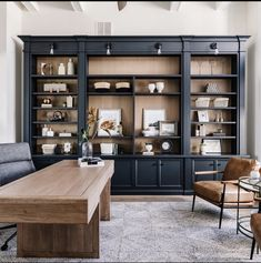 Home Library Design, Office Interior Design, Office Interiors, House Design, Home Office Space, Home Office Decor, Home Decor, Masculine Office Decor, Office Space Design
