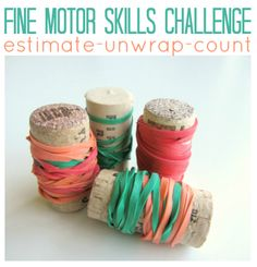 Great activity for fine motor skill development with a little math thrown in for good measure.