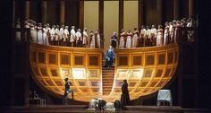 La Clemenza di Tito Teatro Municipale, Modena. Production by Walter Pagliaro. Sets and costumes by Luigi Perego.